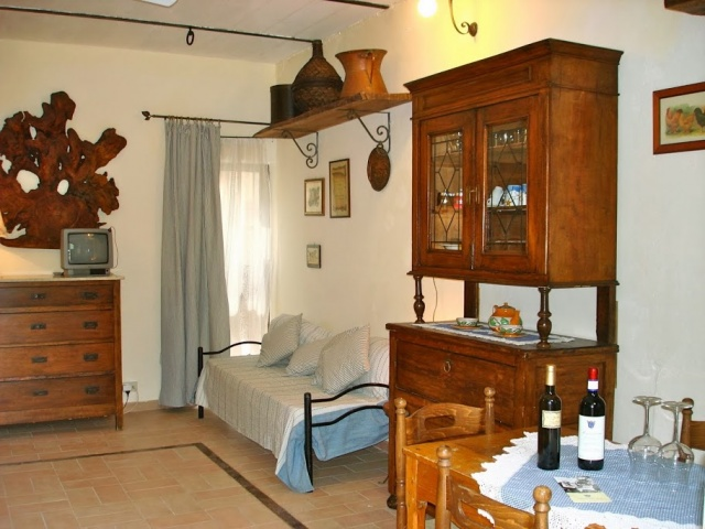 Abruzzo Vakantie Agriturismo Appartement Woonkamer ABV0120D