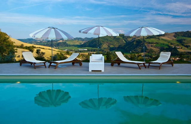 Noord Le Marche Urbino Villa Zwembad 11