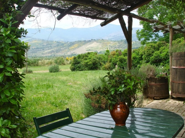 Abruzzo Vakanties Agriturismo Appartement ABV0120F Terras Uitzicht