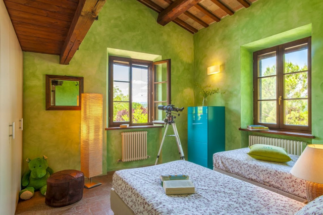 Fermignano Le Marche Luxe Villa Zwembad Slaapkamer 3