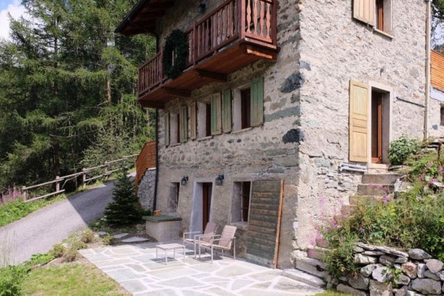 Italie Val D Aosta Vakantie Chalet Prachtig Uitzicht Zomer En Winter 31