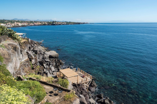Sicilie Acireale Villa Zee Zwembad Buitenkeuken 12j