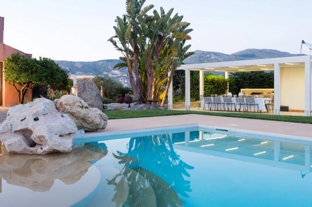 Sicilie Trapani Grote Luxe Villa 18p Zwembad 19