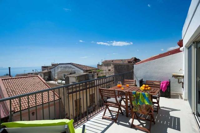 Taormina Sicilie Vakantie Appartement Historisch Centrum Met Zee Zicht 1