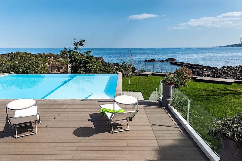 Sicilie Acireale Vakantie Appartement Aan Zee Met Zwembad 1